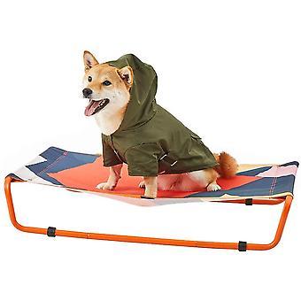 Erhöhtes Haustierbett für Hunde und Katzen-HaustierBett für den Innen-/Außenbereich, leicht zu