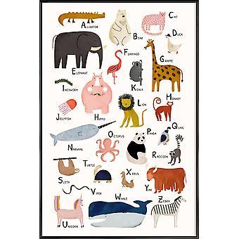 JUNIQE Print - Animal Friends - Przedszkole i sztuka dla dzieci Plakat w kolorach