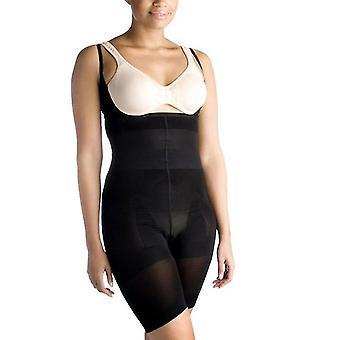 L preto feminino shapewear de uma peça x3604