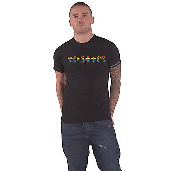 Pink Floyd T Shirt Dark Side Prism Initials Band Logo new Official Mens Black