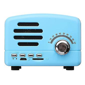 Hordozható Vintage Retro Mini FM Rádió Vezeték nélküli bluetooth hangszóró TF kártya USB-töltés