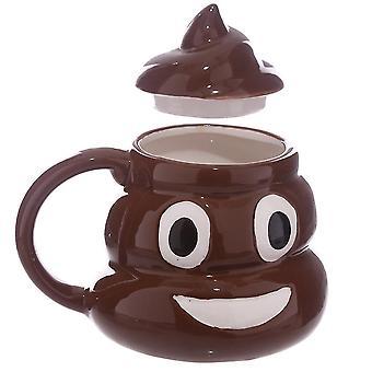 Funny Poop Ceramic Mug With Lid Coffee Cup