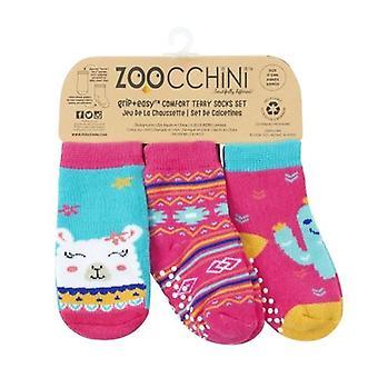 Zoocchini Sock Set (3 Pack) 0-24 måneder Laney Llama