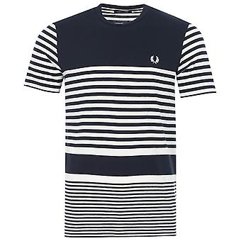 Fred Perry Reissues Stripe T-Shirt - Navy