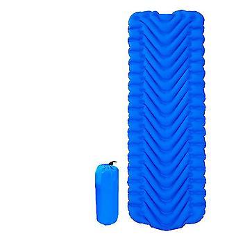 coussin de tente gonflable extérieur pliable, tapis anti-humidité pour travel camping (bleu foncé)