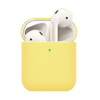 Matte Yellow Airpods Silicone Case For Your Apple Airpods (2019) / (2016)