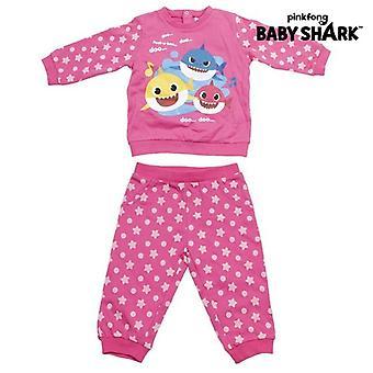 Babys träningsoverall Baby Shark Rosa