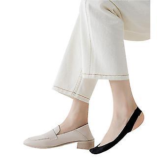 Pěnový polštář půl palmového praku Lodní ponožky Neviditelné ponožky Ženy Vysoké podpatky Essential (BLACK)