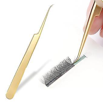 Volume Eyelash And Volume Lash Tweezers Professional High Precision Stainless Steel|Eyelash Tweezers