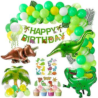 Kindergeburtstag Dekorationen, 110 Stück Luftballons Dinosaurier Kit Geburtstag Ballon Girlande