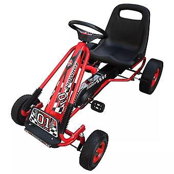 Pedal Go Kart with Adjustable Seat Red Children Ride-on Car Vehicle