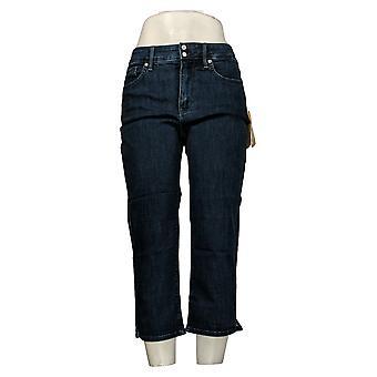 NYDJ Leggings Cool Embrace Skinny Crop with Side Slits - Lana Blue A377692