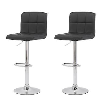 2 pcs Bar Stools Counter Height Adjustable Bar Chair 360 Degree Swivel Seat Modern Pu Leather Kitchen Counter Stools