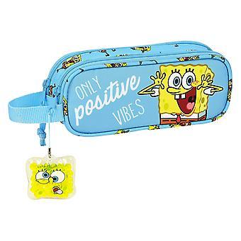 Double Tote Holder Positive Vives Spongebob Yellow Light Blue