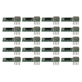 Remote controls 20pcs 433mhz rf high frequency wireless receiver module kit dc3-5.5v green