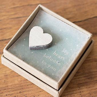 Öster om Indien Lapel Pin Badge - Mitt hjärta tillhör dig Keepsake Gift