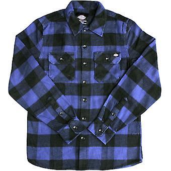 Dickies Sacramento Long Sleeve Flannel Shirt Blue