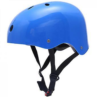 קסדת סקייטבורד השפעה התנגדות אוורור סלע טיפוס סקי ספורט קסדה(כחול)