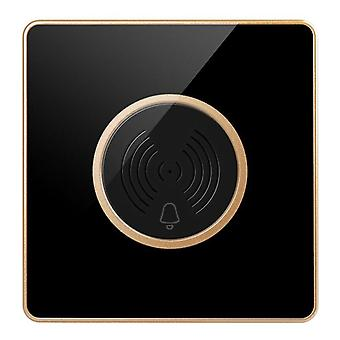 86 Type Embedded 220V Smart Two Wired Hotel Doorbell Hotel Display Was Not Disturbed(gold)