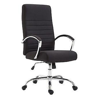 Toimistotuoli - Työpöytätuoli - Kotitoimisto - Moderni - Musta - Metalli - 60 cm x 68 cm x 110 cm