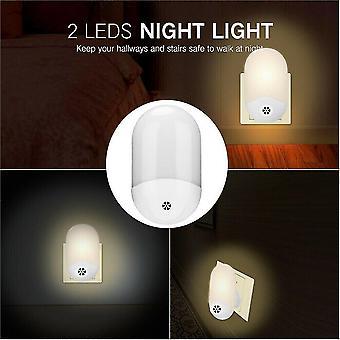Night lights ambient lighting automatic 2 led sensor night light wall plug in warm dusk to dawn