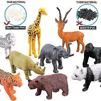 Fermes de fourmis 53x figurines d'animaux sauvages safari ferme jouet enfant cadeau de Noël