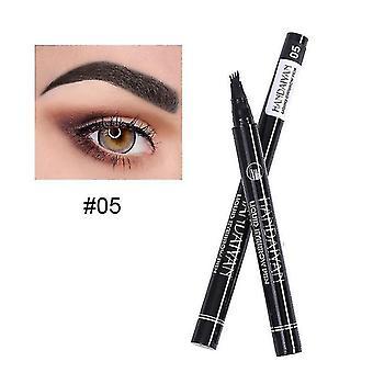 Eyebrow enhancers waterproof cosmetic eyebrow pen 05 black
