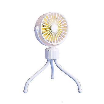 Wandelwagen ventilator mini draagbare ventilator led licht camping usb oplaadbare ventilator met flexibel statief mini