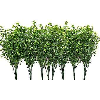 Piante artificiali Arbusti, falsi fiori di plastica all'aperto Decorazione natalizia di nozze all'aperto - Viola scuro 4 pezzi
