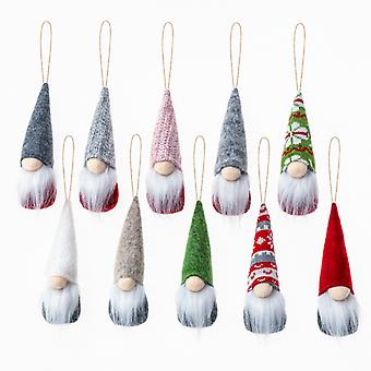 Evago 5pcs Juletre Hengende Gnomes Ornamenter Svensk Håndlaget Plysj Gnomes Santa Elf Hengende Hjem Dekorasjoner Ferie Dekor