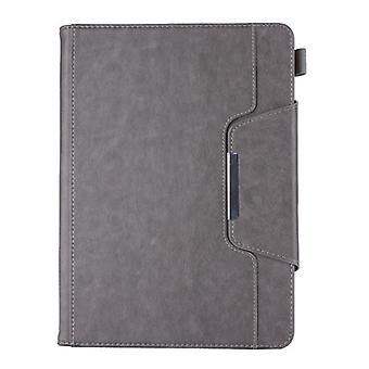 Pu Case With Buckle And Pen Holder, Suitable For Apple Ipad 5 / Air A1474 A1475 A1476-gray