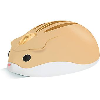 2.4g Mouse wireless, animal Forma Mute 1200dpi mouse-ul optic portabil Usb Receiver, 3 Butoane (galben)