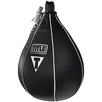 Title Boxing Leather Speed Bag - Medium (7