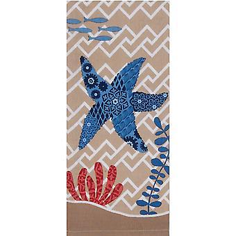 Blauwe Print Starfish koraal kust 28 Inch keuken schotel theedoek katoen Kay Dee