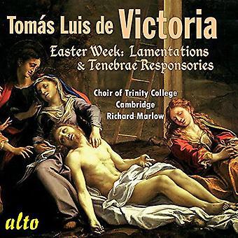 Coro de Trinity College, Cambridge / Ric - Victoria: importación de Estados Unidos Semana Santa semana lamentaciones y Res [CD]