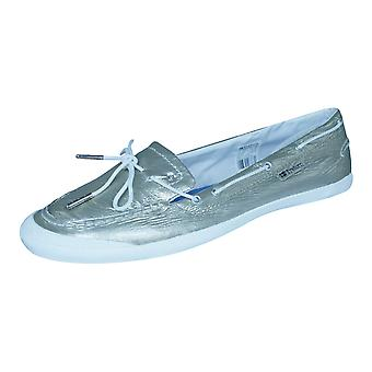 Tretorn Sunniva Patent Womens Leather Deck / Boat Shoes - Taupe