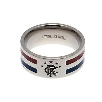 Rangers Colour Stripe Ring Small
