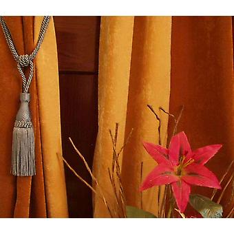 Pair - Gray Decorative handmade Tiebacks / Tassel / Curtain Holdback