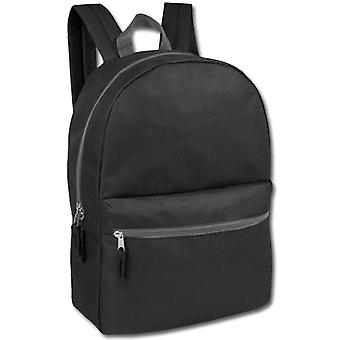 Černý klasický 2 kapesní batoh