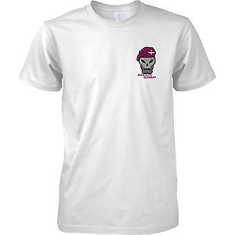 Parachute Regiment Beret og Skull - barna brystet Design t-skjorte