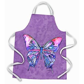 Carolines Treasures  8860APRON Butterfly on Purple Apron