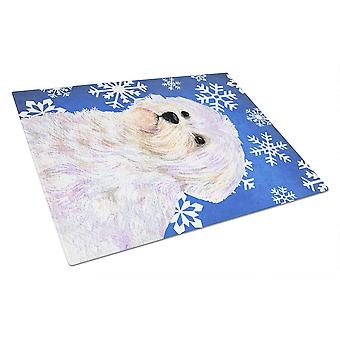 Carolines Treasures  SS4619LCB Maltese Winter Snowflakes Holiday Glass Cutting B