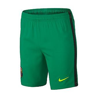 2016-2017 Barcelona Home Nike doelman Shorts (lucide groen) - Kids