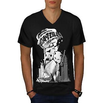 Quote City Funy Funy Men BlackV-Neck T-shirt | Wellcoda