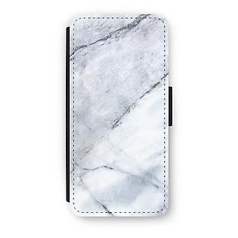iPhone 5c Flip Case - Marble white