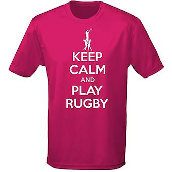Keep Calm And Play Rugby Kids Unisex T-Shirt 8 Colours (XS-XL) by swagwear