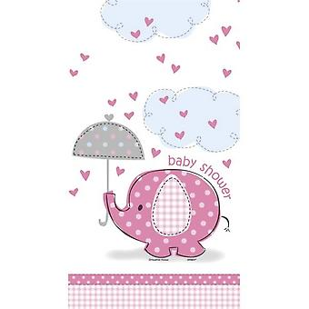 Unik fest Umbrellaphants Babyshower Pink Tablecover