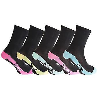 CottoniQue Womens/Ladies Premium Quality Day Socks (5 Pairs)