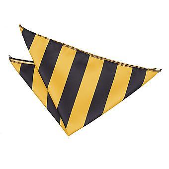 Gele & zwarte gestreepte zak plein