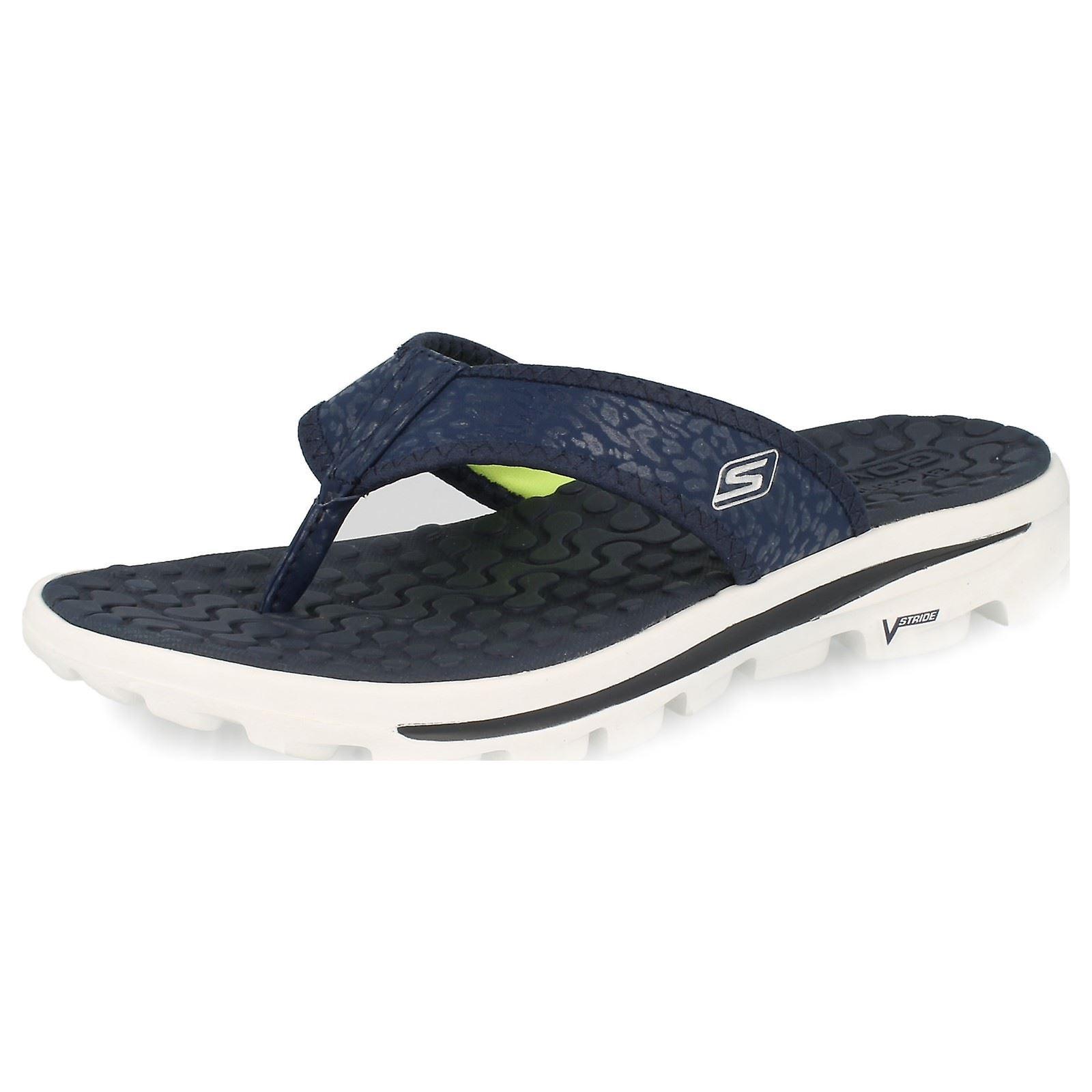 Ladies Skechers GoWalk Toe Post Sandals 'Beach Bum' P7xM9
